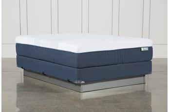 Blue Hybrid Medium Queen Mattress W/Foundation