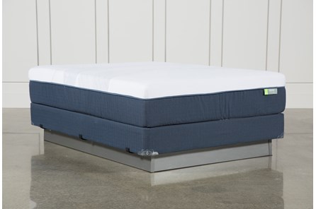 Blue Hybrid Medium Queen Mattress W/Foundation - Main