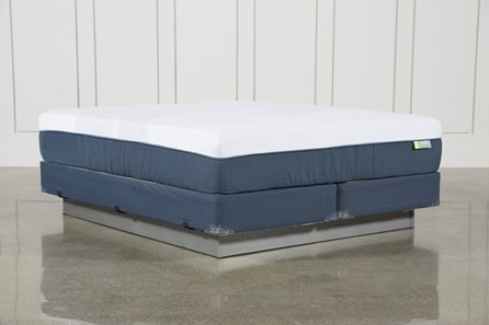 Blue Hybrid Medium California King Mattress W/Foundation