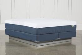 Blue Hybrid Medium Eastern King Mattress W/Foundation