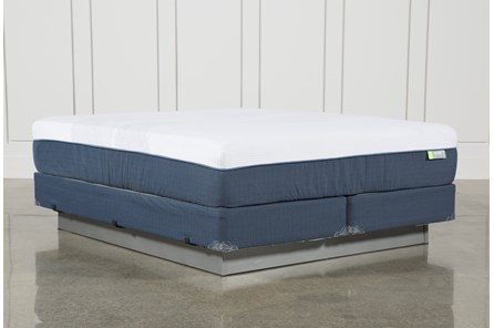 Blue Hybrid Medium Eastern King Mattress W/Foundation