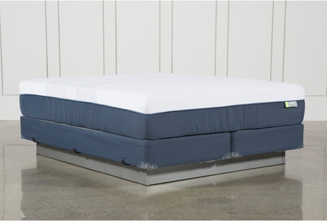 Blue Hybrid Medium Eastern King Mattress W/Foundation - 360