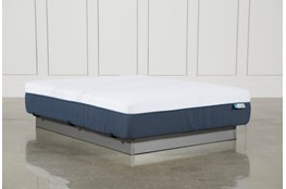 Blue Hybrid Plush Queen Mattress