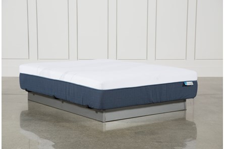 Blue Hybrid Plush Queen Mattress - Main