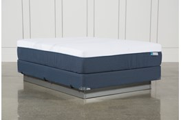 Blue Hybrid Plush Queen Mattress W/Foundation