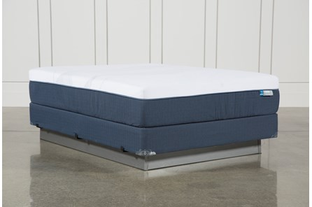 Blue Hybrid Plush Queen Mattress W/Foundation - Main