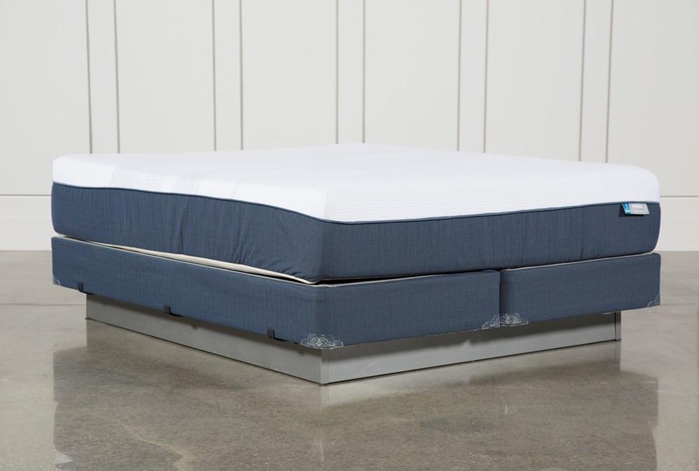 Blue Hybrid Plush California King Mattress W/Foundation