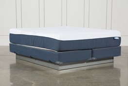Blue Hybrid Plush California King Mattress W/Foundation
