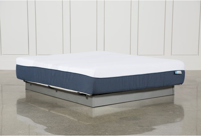 Blue Hybrid Plush Eastern King Mattress - 360