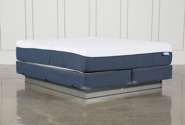 Blue Hybrid Plush Eastern King Mattress W/Foundation - 360