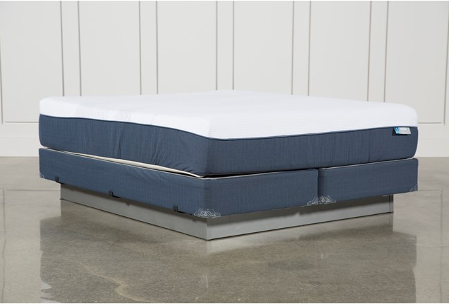 Blue Hybrid Plush Eastern King Mattress W/Foundation - 360