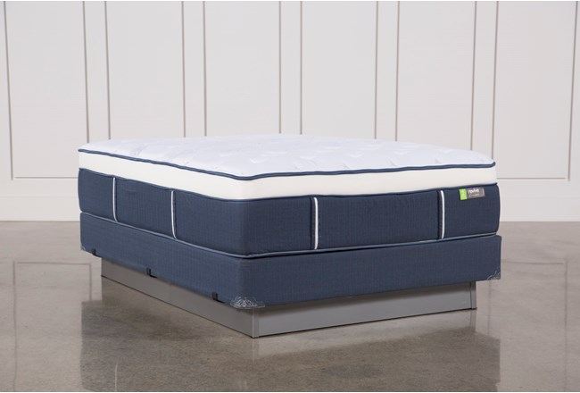 Blue Springs Medium Queen Mattress W/Foundation - 360