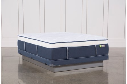 Blue Springs Med Queen Mattress W/Low Profile Foundation - Main