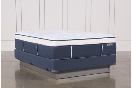 Blue Springs Plush Queen Mattress W/Foundation - Main