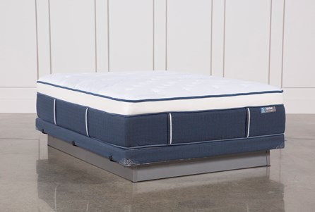 Blue Springs Plush Queen Mattress W/Low Profile Foundation
