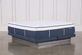 Blue Springs Plush Cal King Mattress W/Low Profile Foundation