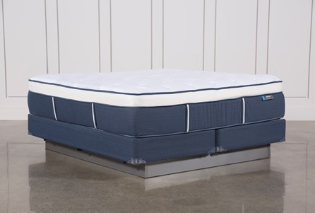 Blue Springs Plush Eastern King Mattress W/Foundation