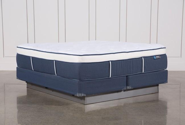 Blue Springs Plush Eastern King Mattress W/Foundation - 360