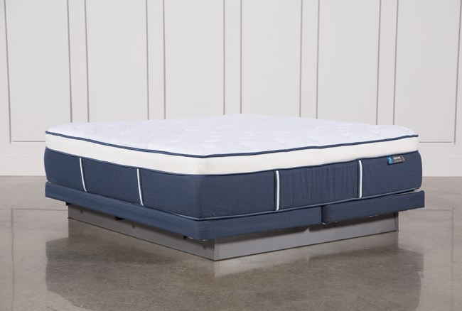 Blue Springs Plush Eastern King Mattress W/Low Profile Foundation - 360