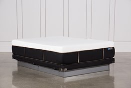 Copper Hybrid Plush Queen Mattress W/Low Profile Foundation