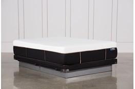 Copper Hybrid Plush Queen Mattress W/Low Profile Foundation