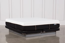 Copper Hybrid Plush Cal King Mattress W/Low Profile Foundation