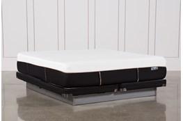 Copper Hybrid Plush Cal King Mattress W/Low Profile Foundation
