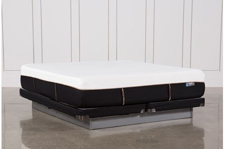 Copper Hybrid Plush Cal King Mattress W/Low Profile Foundation - Main