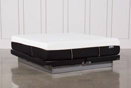 Copper Hybrid Plush Eastern King Mattress W/Low Profile Foundation