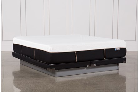 Copper Hybrid Plush Eastern King Mattress W/Low Profile Foundation - Main