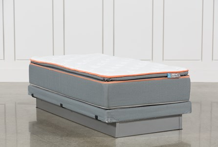 Activize Plush Twin Mattress W/Low Profile Foundation