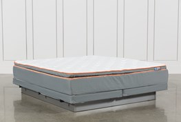 Activize Plush Eastern King Mattress W/Low Profile Foundation