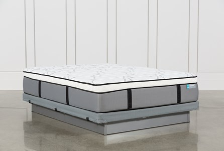 Grey Springs Firm Queen Mattress W/Low Profile Foundation