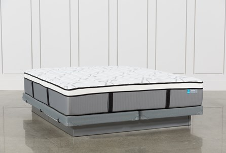 Grey Springs Firm Cal King Mattress W/Low Profile Foundation