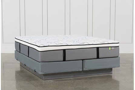 Grey Springs Medium Eastern King Mattress W/Foundation - Main