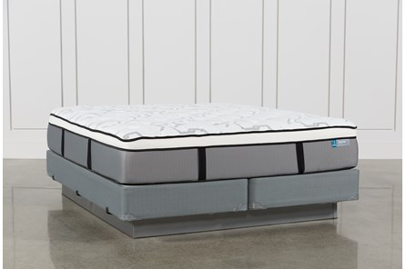 Grey Springs Plush California King Mattress W/Foundation - Main