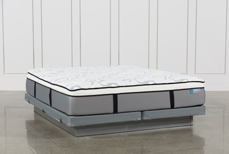 Grey Springs Plush Cal King Mattress W/Low Profile Foundation