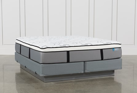 Grey Springs Plush Eastern King Mattress W/Foundation