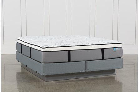 Grey Springs Plush Eastern King Mattress W/Foundation - Main