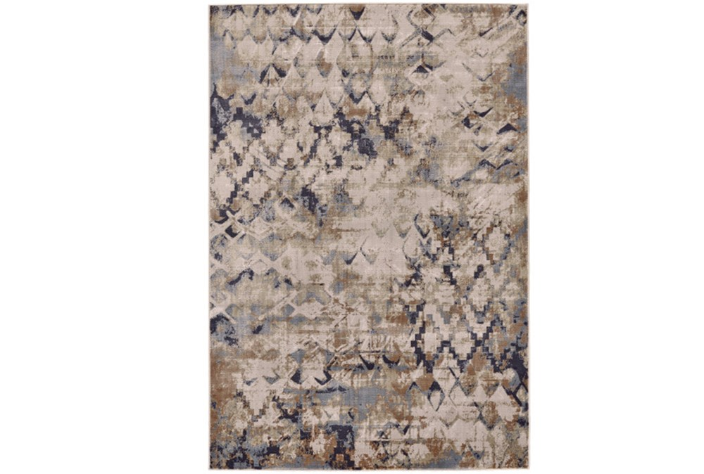 96X132 Rug-Distressed Geometric Camel