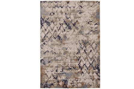 120X158 Rug-Distressed Geometric Camel