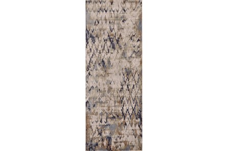 34X94 Rug-Distressed Geometric Camel