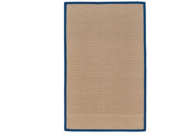 42X66 Outdoor Rug-Faye Blue Border - 360