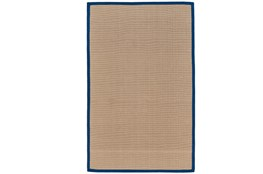 60X96 Outdoor Rug-Faye Blue Border