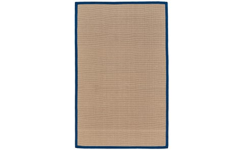 108X144 Outdoor Rug-Faye Blue Border