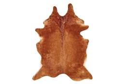 4'x6' Rug-Oscar Cowhide Medium Brown Small