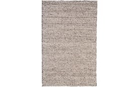 42X66 Rug-Oatmeal Textured Wool Stripe