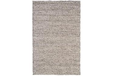 """3'5""""x5'5"""" Rug-Oatmeal Textured Wool Stripe"""