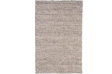 60X96 Rug-Oatmeal Textured Wool Stripe