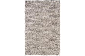 5'x8' Rug-Oatmeal Textured Wool Stripe